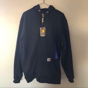 NWT Men's Hooded Zip-Front Sweatshirt
